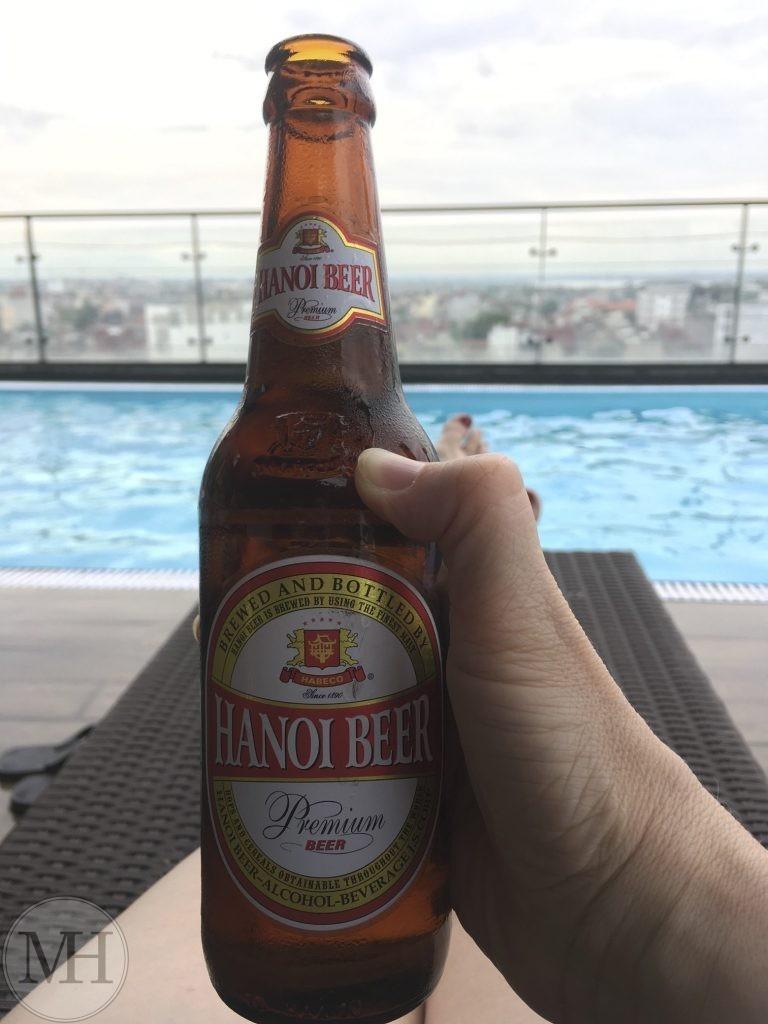 Hanoi Beer roof top pool